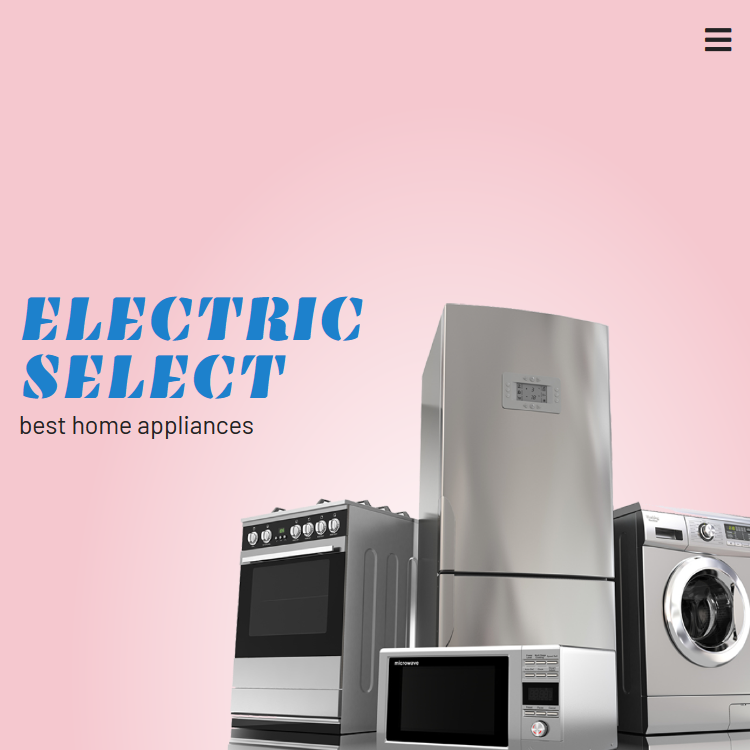 A PSD conversion for the Electric Select website.